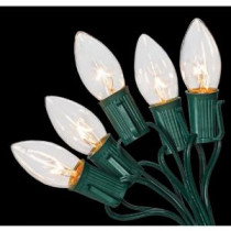 Home Accents Holiday C9 25-Light Clear Color Incandescent Light String-W11C0055 205919414