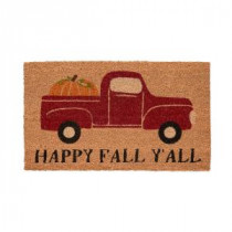 Home Accents Holiday Fall Pickup 17 in. x 29 in. Coir Door Mat-519520 206979356