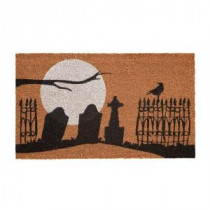 Home Accents Holiday Graveyard 17 in. x 29 in. Coir Door Mat-519445 206979353