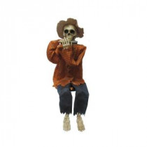 Home Accents Holiday Halloween 38 in. Animated Skeleton Playing Harmonica-HA40277A 206782784