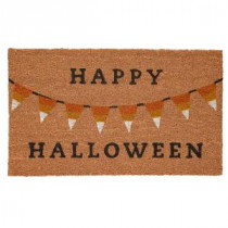 Home Accents Holiday Halloween Bunting 17 in. x 29 in. Coir Door Mat-519452 206979351