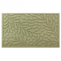 Home Accents Holiday Leaves and Berries 18 in. x 30 in. Door Mat-60823120118x30 207072924