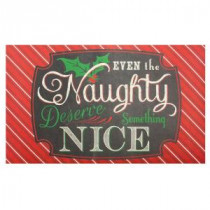 Home Accents Holiday Naughty or Nice 18 in. x 30 in. Door Mat-60799079818x30 207037144
