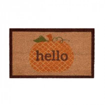Home Accents Holiday Pumpkin Greetings 17 in. x 29 in. Coir Door Mat-519469 206979361