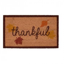 Home Accents Holiday Thankful 17 in. x 29 in. Coir Door Mat-519414 206979352