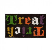 Home Accents Holiday Trick Treat Flip 17 in. x 29 in. Coir Door Mat-519490 206979360