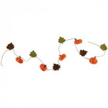 Home Decorators Collection 7 ft. Garland with Felt Pumpkins-9727800570 300134194