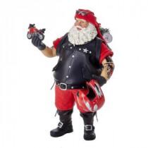 Kurt S. Adler 11 in. Fabriche Motorcycle Santa-C7447 300587905
