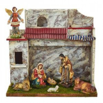 Kurt S. Adler 5 in. Musical Nativity Set with 7 Figures and Stable-N0286 300587919