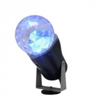 LightShow 10 in. Blue Projection Kaleidoscope Spotlight Stake-88619 205081143