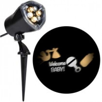 LightShow 11.81 in. Projection-Whirl-a-Motion-Welcome Baby (WWCC) Light Stake-49377 206832935