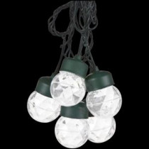 LightShow 8-Light White Projection Round String Lights with Clips-35587 205582968
