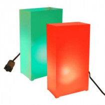 Lumabase Red and Green Light Electric Luminaria Kit (10-Count String)-34010 206461395