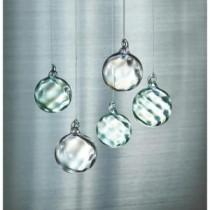 Martha Stewart Living 1.5 in. W Swirled Glass Christmas Ornaments (Set of 12)-9757300310 300247541