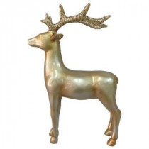 Martha Stewart Living 15 in. Winter's Wonder Gold Standing Reindeer-LX1290-G 205930677