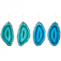 Martha Stewart Living 2.25 in. Gilded Agate Christmas Ornaments (Set of 6)-9733700730 300265264