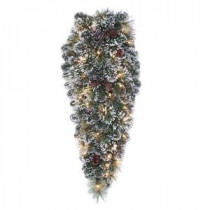 Martha Stewart Living 32 in. Frosted Pine Artificial Teardrop with 50 Clear Lights-GB28M2R70C01 205080516