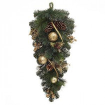 Martha Stewart Living 32 in. Unlit Golden Holiday Artificial Swag-2174900HD 205080202