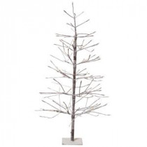 Martha Stewart Living 4 ft. Pre-Lit LED Snowy Brown Artificial Christmas Tree-9772900820 300277520