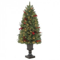 Martha Stewart Living 4 ft. Winslow Potted Artificial Christmas Tree with 100 Clear Lights-TV40P4598C00 205983396