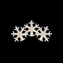 Martha Stewart Living 50-Light LED Warm White Snowflake Light Set-TY823-1415 205092325