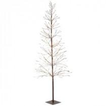 Martha Stewart Living 6 ft. Pre-Lit LED Snowy Brown Artificial Christmas Tree-9772910820 300320394