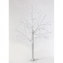 Martha Stewart Living 6 ft. Pre-Lit LED Snowy White Artificial Christmas Tree-9773300410 300320422