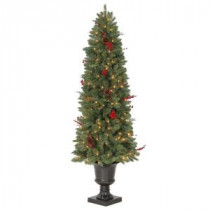 Martha Stewart Living 6 ft. Winslow Potted Artificial Christmas Tree with 200 Clear Lights-TV60P4598C00 205983468