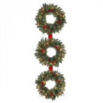 Martha Stewart Living 60 in. Winslow 3-Ring Artificial Wreath with 25 Clear Lights-GD18P4598C00 205983381