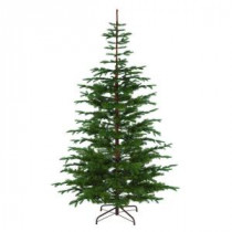 Martha Stewart Living 7.5 ft. Indoor Norwegian Spruce Hinged Artificial Christmas Tree-9318500610 206497556