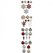 Martha Stewart Living Cranberry Frost Shatter-Resistant Assorted Ornament (100-Pack)-HE-51167A 206444859