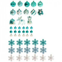 Martha Stewart Living Winter Wishes Ornament Set (51-Count)-C-16845A 207113132