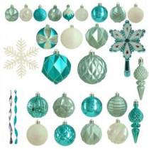 Martha Stewart Living Winter Wishes Shatter-Resistant Assorted Ornament (100-Count)-HE-1102 207045420