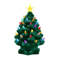 Mr. Christmas 10 in. Green Nostalgic Christmas Tree with LED's-17378 207213089