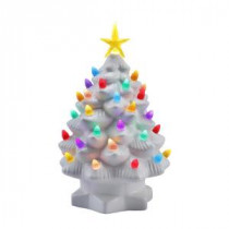 Mr. Christmas 10 in. White Nostalgic Christmas Tree with LED's-17379 207213080