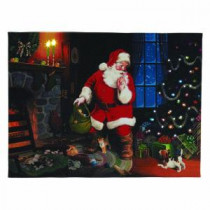 Mr. Christmas 12 in. x 16 in. Santa's Secret Illuminart-10747 205370035