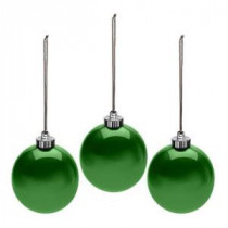 Mr. Christmas 6 in. Outdoor Pearlized Green New Ornament (Set of 3)-48002M 206265398