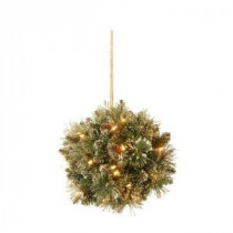 National Tree Company 12 in. Glittery Bristle Pine Kissing Ball with Pine Cones-GB1-300-12K-B1 205299262