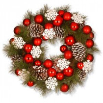 National Tree Company 23 in. Ornaments Artificial Wreath-RAC-15459W24 300154646