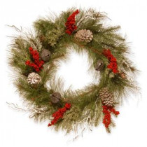 National Tree Company 24 in. Bells and Berries Artificial Wreath-RAC-15090W24 300154645
