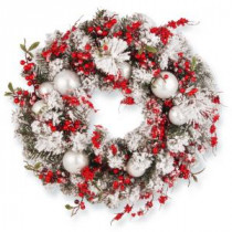 National Tree Company 24 in. Christmas Artificial Wreath-RAC-J501X24 300154643