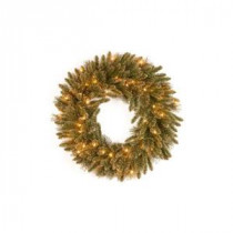 National Tree Company 24 in. Glittery Gold Pine Artificial Wreath with Glitter, Gold Cones, Gold Glittered Berries-GPG3-341-24W 205299298