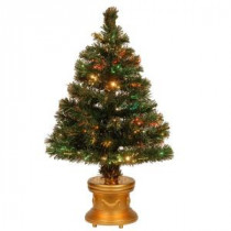 National Tree Company 2.67 ft. Fiber Optic Radiance Fireworks Artificial Christmas Tree-SZRX7-100-32-1 205331319