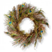 National Tree Company 28 in. Peacock Artificial Wreath-RAC-W060318A 300154655