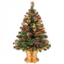 National Tree Company 3 ft. Fiber Optic Fireworks Artificial Christmas Tree-SZFX7-158L-36-1 300496170
