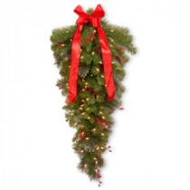 National Tree Company 36 in. Crestwood Spruce Teardrop with Clear Lights-CW7-329-3TD-1 300441243