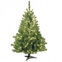 National Tree Company 4 ft. Kincaid Spruce Artificial Christmas Tree with Clear Lights-KCDR-40LO-S 207183177