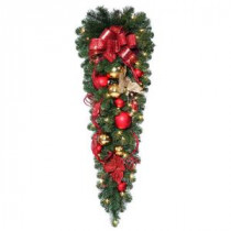 National Tree Company 42 in. Decorative Collection Artificial Teardrop with 50 Clear Lights-DC3-161L-42T 206084814