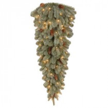 National Tree Company 42 in. Feel-Real Alaskan Spruce Artificial Teardrop with 50 Clear Lights-PEFA1-307-42T-1 205982360