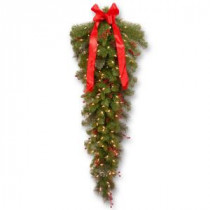 National Tree Company 48 in. Crestwood Spruce Teardrop with Clear Lights-CW7-397-4-1 300441244